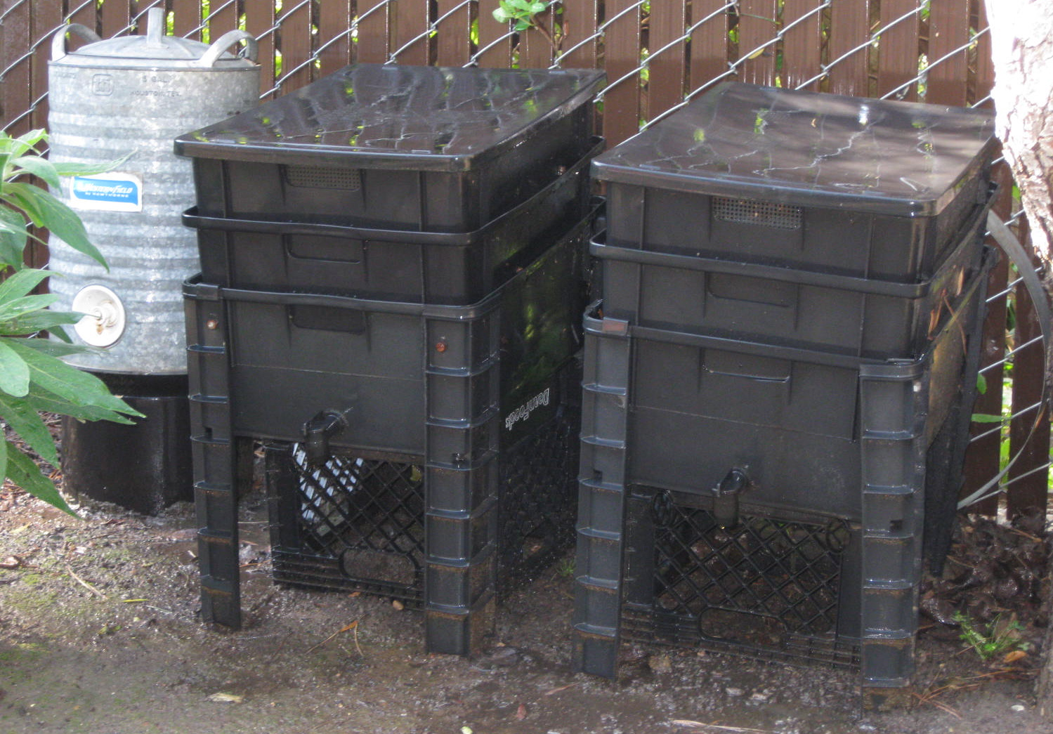 Layered Worm Bins for Worm Composting
