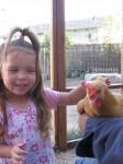 Brooke pets Daisy