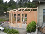 New garden room construction.