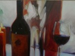 Wine Painting by Milo DiVincenzo