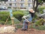 Plein Aire painter scarecrow.