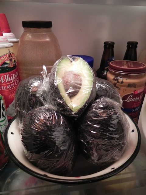 Keep wrapped avocadoes in refrigerator